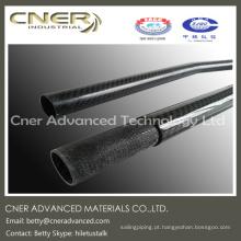 Tubo de Fibra de Carbono de alta resistência 3K, acabamento de superfície brilhante e fosco disponível
