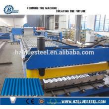 Barril ondulado techos que forman la máquina de azulejos corrugados que hace la máquina