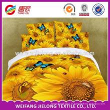 tissu de feuille de lit de microfibre de polyester pour le marché indien de Dubaï et de Russie