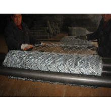 Hot dipped galvanized gabion mesh