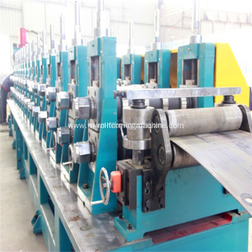 Highway guardrail forming production line
