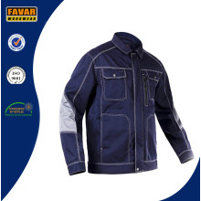 Men Outdoor Workwear Multi-Pockets Work Jacket Construction Mechanic Craftsman Builder Workwear