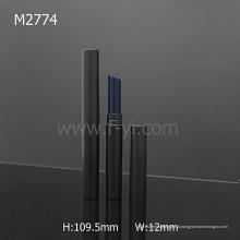 Black Round Cheap Wholesale Novo Slim Lipstick tubo com boca oblíqua