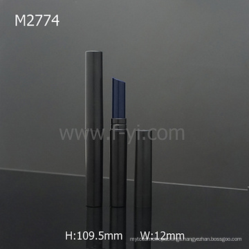 Black Round Cheap Wholesale New Slim Lipstick Tube With Oblique Mouth