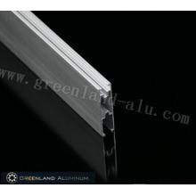 Rail inférieur gris aluminium pour store enrouleur