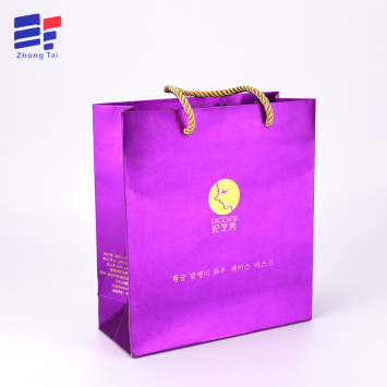 Hot stamping corrugated paper cosmetic hand bag