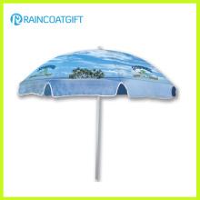 Sombrilla de playa promocional del parasol de la playa de la tela del PVC de la lona del encerado de la marca