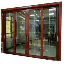 Soundproof interior double glazing sliding door for living room