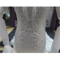 2018 Elegante V-neck Lace Up vestido de noiva sereia Vestido de noiva com pesado frisado