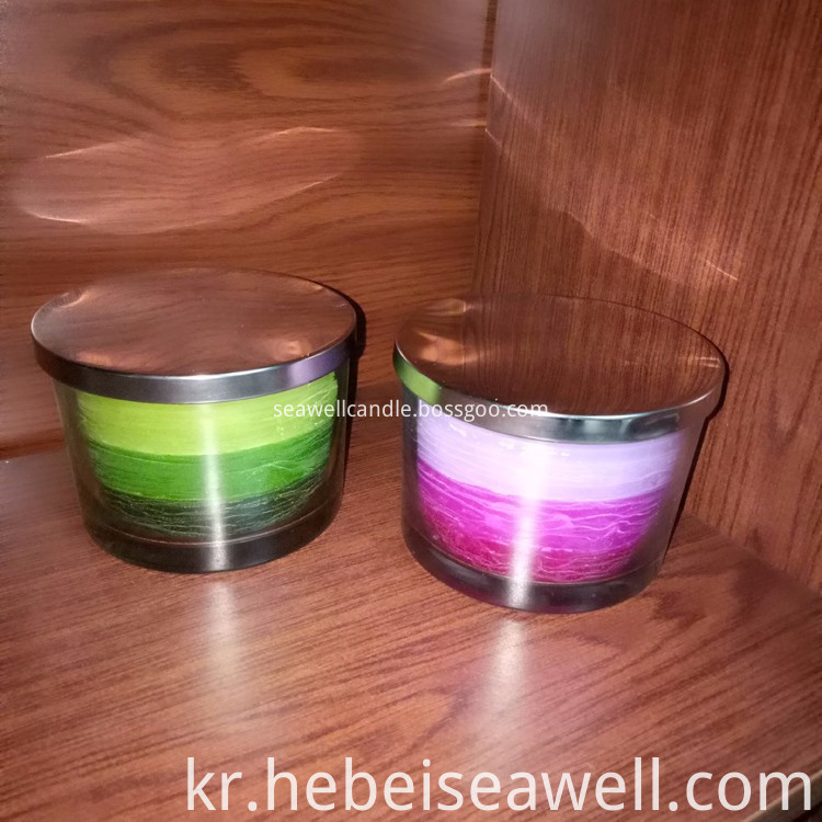 3 Wick Candles Same Color Shade Candles (3)