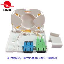 4 puertos de fibra óptica caja de terminación de cable (PTB012)