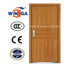 América del Sur Chalet Exterior MDF Puerta blindada de madera de acero (W-A11)