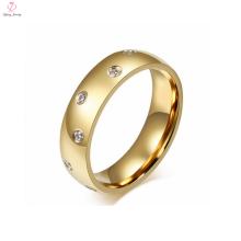 Anel de homens de casamento de cristal de 2 gramas de ouro para homens