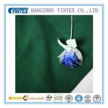 Tela de algodón verde suave de la alta calidad de Yintex