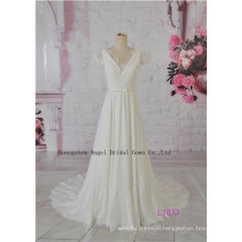 Beaded and Apliqued Flower Hi Lo Bridal Gown Glamorous Tiered Fishtail Gown
