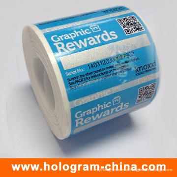 Custom Printed Self Adhesive Cosmetic Sticker Label
