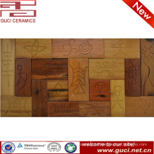rustic design Solid wood mosaic tile for house wall decoration