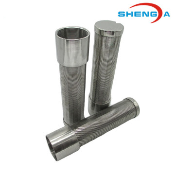 SS Johnson Wedge Screen Pipe untuk Syrup Gula