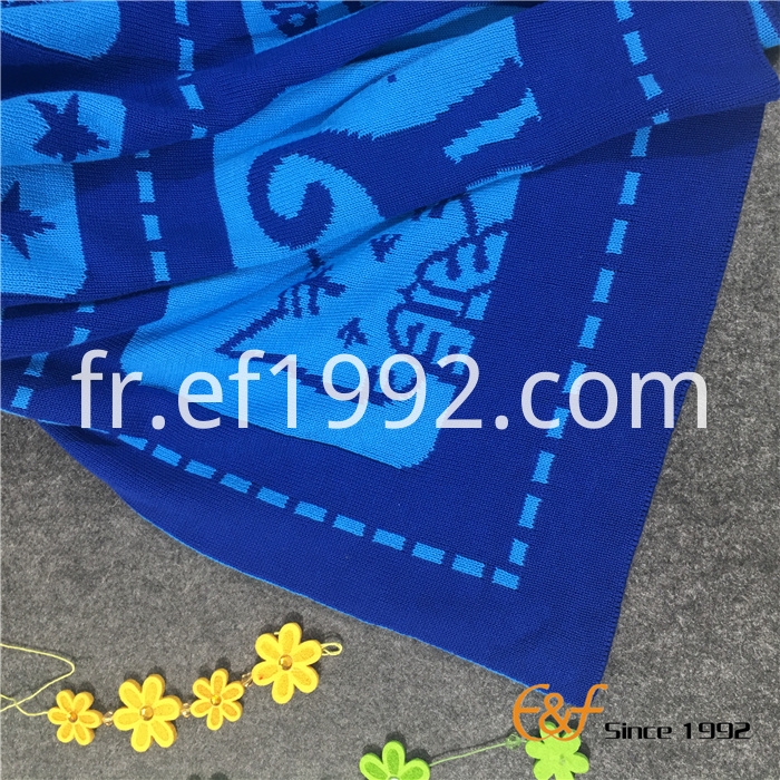 cartoon pattern knitted blanket