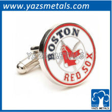 personalizar abotoaduras de metal, feitos sob encomenda de Boston Red Sox cufflnks