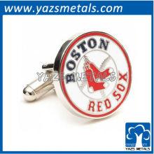 подгоняйте металл запонки, изготовленные Бостон ред сокс cufflnks