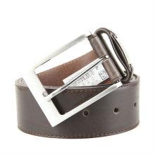 Men's Belt Reversible Wide Bonded Leather Silver-Tone Buckle