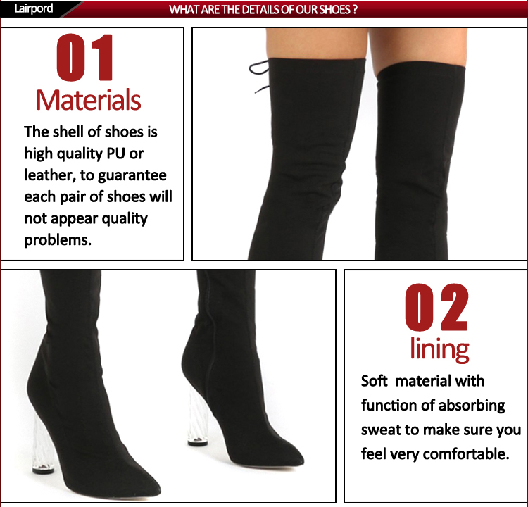 over knee long ladies boots