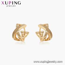 96909 xuping gold plated aro sin piedra pendientes XP para mujer
