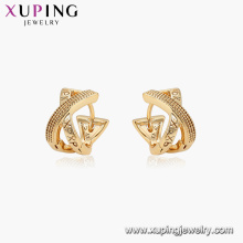 96909 xuping gold plated hoop no stone XP earrings for women