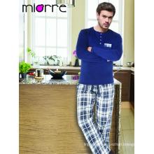 Miorre Men's Sleepwear Cotton Long Sleeve Pajamas Set