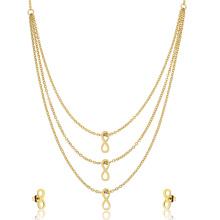 Infinity Stud Ohrring Multi Layered Halskette Schmuck-Set für Frauen