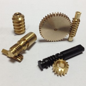 CNC Machining Brass Worm Gear for Racing Motorcycle