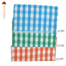 cotton nylon sky gingham fabric for classic shirt