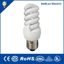 Lâmpadas de poupança de energia 110-240V do UL 5W 7W 9W 11W espiral
