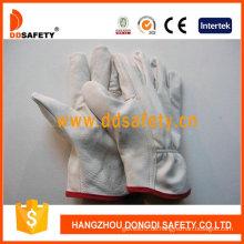 Weißer Kuh-Korn-Leder-Handschuh (DLD215)
