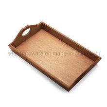 Rechteck-Form Eiche Holz Serviertablett (SE061)