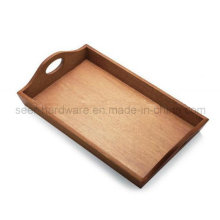 Rectangle Shape Oak Wood Serving Tray (SE061)