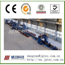 Box-shaped column welding line