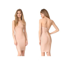 Strapless Bandage Dress with Skinny Short Dress