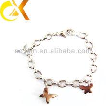 Belle bijoux en acier inoxydable bracelets de conception papillon pour fille