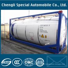 Recipiente químico 20FT do tanque do equipamento de transporte do aço carbono