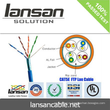 Сетевой кабель CAT5E FTP 24AWG BC CMR lan кабель дешевая цена хорошее качество