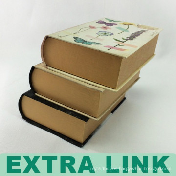 Diseño de la cubierta de tinta y lavado multicolor Diseño de la caja de regalo de papel vintage