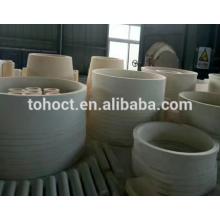 Large Alumina zirconia ceramic bushing tube pipe roller ring With Tight Tolerance