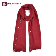 HEC longue écharpe douce élégante en plein air à la mode avec logo
