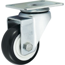 Medium Duty Polyurethane Caster (Black) (Round Surface) (G3204)