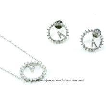 Party Hochzeit Silber 520 Armband Ohrring Set S3275