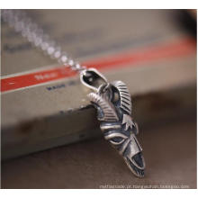 Corrente da camisola do colar do pendente da forma da prata 925 esterlina