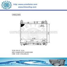 Radiador Para TOYOTA ECHO 00-011640021070 / 1640021060 Fabricante y Venta Directa