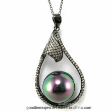 Special Design and Wholesale New Big Pearl Pendant in Silver P5021L